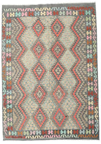 Kilim Afghan Old Style Rug 208X293 Authentic  Oriental Handwoven Dark Grey/Light Grey (Wool, Afghanistan)