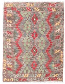 Kelim Afghan Old Style Matto 132X175 Itämainen Käsinkudottu Vaaleanpunainen/Vaaleanharmaa (Villa, Afganistan)