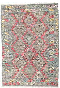 Kilim Afghan Old Style Rug 116X167 Authentic  Oriental Handwoven Light Grey/Dark Grey (Wool, Afghanistan)