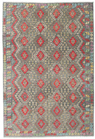 Kilim Afghan Old Style Rug 203X300 Authentic  Oriental Handwoven Dark Grey/Light Brown (Wool, Afghanistan)