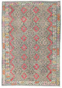Kilim Afghan Old Style Rug 174X250 Authentic  Oriental Handwoven Light Grey/Dark Grey (Wool, Afghanistan)