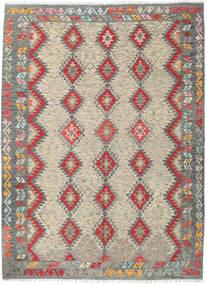 Kilim Afgán Old Style Szőnyeg 175X238 Keleti Kézi Szövésű Világosszürke/Világosbarna (Gyapjú, Afganisztán)