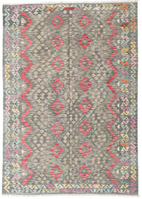Kilim Afghan Old Style Rug 182X241 Authentic  Oriental Handwoven Light Grey/Dark Grey (Wool, Afghanistan)