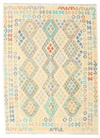 Kilim Afghan Old Style Rug 151X205 Authentic  Oriental Handwoven Beige/Yellow (Wool, Afghanistan)