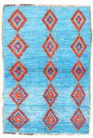 Barchi/Moroccan Berber - Afganistan Matto 89X130 Moderni Käsinsolmittu Vaaleansininen/Siniturkoosi (Villa, Afganistan)