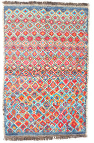 Barchi/Moroccan Berber - Afganistan Rug 87X133 Authentic Modern Handknotted Beige/Orange (Wool, Afghanistan)