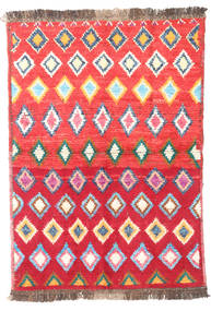 Barchi/Moroccan Berber - Afganistan Rug 87X122 Authentic  Modern Handknotted Crimson Red/Pink (Wool, Afghanistan)