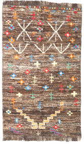 Barchi/Moroccan Berber - Afganistan Rug 85X143 Authentic Modern Handknotted Brown/Light Brown (Wool, Afghanistan)