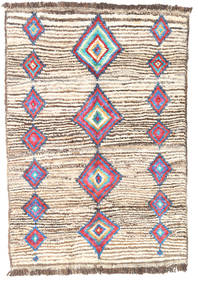 Barchi/Moroccan Berber - Afganistan Rug 95X132 Authentic Modern Handknotted Beige/Light Brown (Wool, Afghanistan)