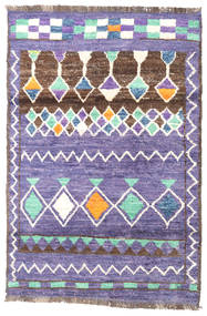Barchi/Moroccan Berber - Afganistan Tappeto 113X167 Moderno Fatto A Mano Violet Clair/Beige (Lana, Afghanistan)