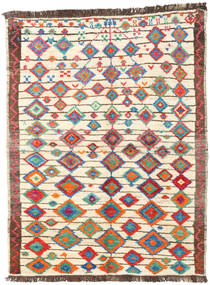 Barchi/Moroccan Berber - Afganistan Vloerkleed 143X188 Echt Modern Handgeknoopt Beige/Donkerbruin (Wol, Afghanistan)