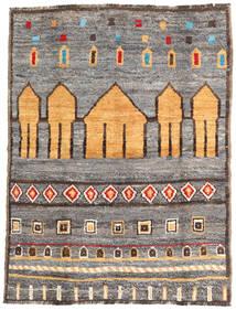 Barchi/Moroccan Berber - Afganistan Teppich 140X188 Echter Moderner Handgeknüpfter Hellgrau/Hellbraun (Wolle, Afghanistan)