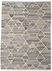 Kilim Ariana Rug 134X180 Authentic  Modern Handwoven Light Grey/Dark Grey (Wool, Afghanistan)