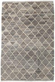 Kilim Ariana Rug 128X189 Authentic Modern Handwoven Light Grey/Dark Grey (Wool, Afghanistan)