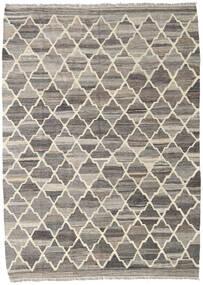 Kelim Ariana Tæppe 135X186 Ægte Moderne Håndvævet Lysegrå/Mørkegrå (Uld, Afghanistan)