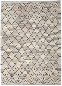 Kilim Ariana Rug 209X286 Authentic  Modern Handwoven Light Grey/Light Brown (Wool, Afghanistan)
