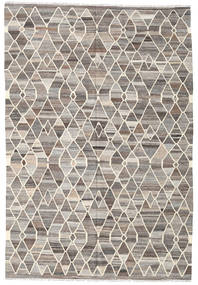 Kilim Ariana Rug 204X302 Authentic  Modern Handwoven Light Grey/Beige (Wool, Afghanistan)