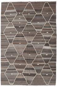 キリム Ariana 絨毯 208X317 モダン 手織り 薄い灰色/濃いグレー/濃い茶色 (ウール, アフガニスタン)
