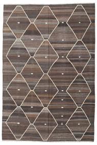 キリム Ariana 絨毯 203X305 モダン 手織り 薄茶色/濃い茶色/薄い灰色 (ウール, アフガニスタン)