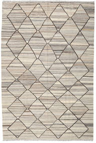 キリム Ariana 絨毯 199X303 モダン 手織り 薄い灰色/ベージュ (ウール, アフガニスタン)