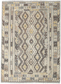 Kilim Afghan Old Style Rug 197X243 Authentic  Oriental Handwoven Light Grey/Light Brown (Wool, Afghanistan)