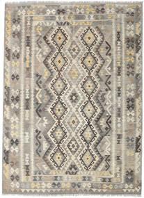 Kelim Afghan Old Style Matto 197X243 Itämainen Käsinkudottu Vaaleanharmaa/Vaaleanruskea (Villa, Afganistan)