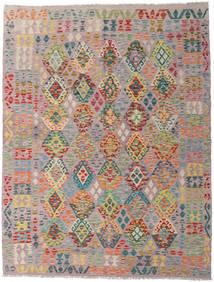 Kelim Afghan Old Style Matto 183X237 Itämainen Käsinkudottu Vaaleanvioletti/Vaaleanharmaa (Villa, Afganistan)