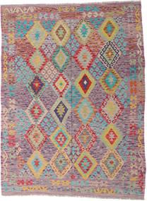 Kilim Afghan Old Style Tapis 170X232 D'orient Tissé À La Main Violet Clair/Rose Clair (Laine, Afghanistan)