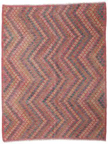 Kilim Afghan Old Style Rug 182X234 Authentic  Oriental Handwoven Rust Red/Brown/Dark Grey (Wool, Afghanistan)