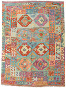 Kilim Afghan Old Style Rug 154X208 Authentic  Oriental Handwoven Brown/Light Green (Wool, Afghanistan)