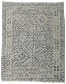 Kilim Afghan Old Style Rug 156X192 Authentic  Oriental Handwoven Light Grey/Dark Grey (Wool, Afghanistan)