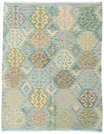 Kilim Afghan Old Style Rug 153X194 Authentic  Oriental Handwoven Light Grey/Pastel Green (Wool, Afghanistan)