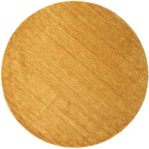 Handloom - Yellow Rug Ø 250 Modern Round Light Brown/Orange Large (Wool, India)