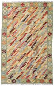 Kelim Afghan Old Style Tæppe 131X201 Ægte Orientalsk Håndvævet Lysegrå/Lysebrun (Uld, Afghanistan)