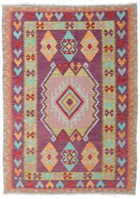 Kilim Afghan Old Style Rug 130X183 Authentic  Oriental Handwoven Purple/Dark Purple (Wool, Afghanistan)