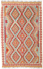 Kilim Afghan Old Style Rug 118X185 Authentic  Oriental Handwoven Rust Red/Light Grey (Wool, Afghanistan)