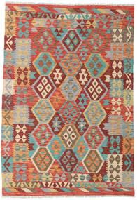 Kilim Afghan Old Style Tapis 125X184 D'orient Tissé À La Main Marron Clair/Orange (Laine, Afghanistan)