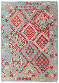 Kilim Afghan Old Style Rug 130X182 Authentic  Oriental Handwoven Light Grey/Brown (Wool, Afghanistan)