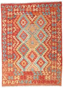 Kilim Afghan Old Style Rug 127X174 Authentic  Oriental Handwoven Orange/Rust Red (Wool, Afghanistan)