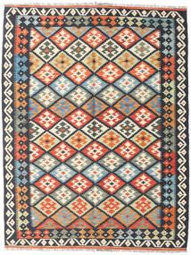Kilim Afghan Old Style Tapis 152X199 D'orient Tissé À La Main Gris Foncé/Beige (Laine, Afghanistan)