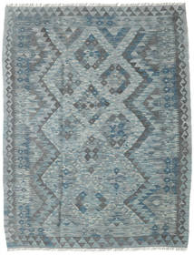 Kilim Afghan Old Style Rug 130X167 Authentic  Oriental Handwoven Dark Grey/Blue/Light Grey (Wool, Afghanistan)