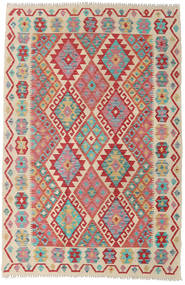 Kilim Afghan Old Style Rug 126X190 Authentic  Oriental Handwoven Rust Red/Light Pink (Wool, Afghanistan)