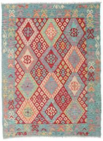 Kelim Afghan Old Style Matto 129X175 Itämainen Käsinkudottu (Villa, Afganistan)