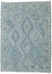 Kilim Afghan Old Style Rug 133X183 Authentic  Oriental Handwoven Light Grey/Light Blue (Wool, Afghanistan)