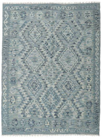 Kilim Afghan Old Style Rug 132X174 Authentic  Oriental Handwoven Light Grey/Dark Grey (Wool, Afghanistan)