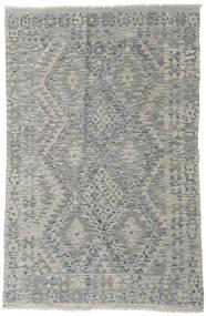 Kelim Afghan Old Style Matta 124X194 Äkta Orientalisk Handvävd Ljusgrå/Mörkgrå (Ull, Afghanistan)