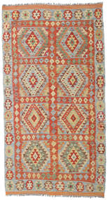 Kilim Afghan Old Style Tappeto 104X193 Orientale Tessuto A Mano Marrone Chiaro/Grigio Chiaro (Lana, Afghanistan)