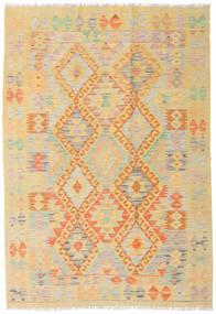 Kelim Afghan Old Style Matto 122X176 Itämainen Käsinkudottu Tummanbeige/Vaaleanruskea (Villa, Afganistan)