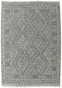 Kilim Afghan Old Style Rug 130X183 Authentic  Oriental Handwoven Light Grey/Dark Grey (Wool, Afghanistan)