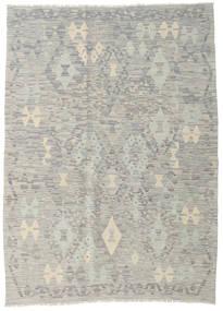 Kilim Afghan Old Style Rug 130X179 Authentic  Oriental Handwoven Light Grey/Beige (Wool, Afghanistan)